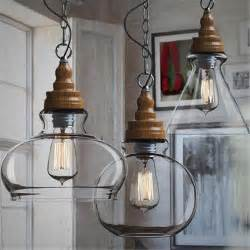 Glass Pendant Lights For Kitchen Creative Loft Style Vintage Industrial Pendant Lights Three Shades Glass Ceiling L For Office