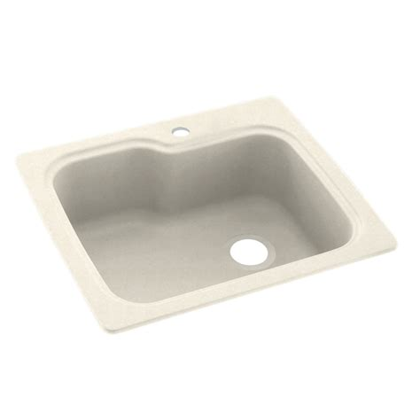 swanstone undermount kitchen sink shop swanstone single basin drop in or undermount composite kitchen sink at lowes