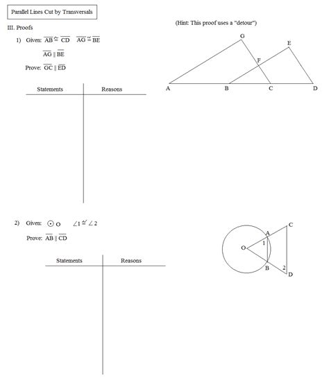 Angles Formed By Parallel Lines Worksheet Answers Milliken Publishing Company