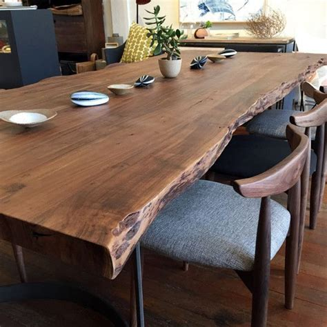 Harvest Table With Bench Lovely Best 25 Live Edge Table Ideas On Pinterest Wood