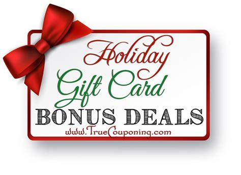 Gift Card Bonus 2014 - 2014 holiday gift card deals