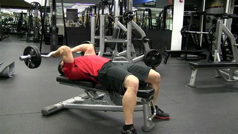 triceps extension bench press flat bench ez curl bar tricep extension youtube