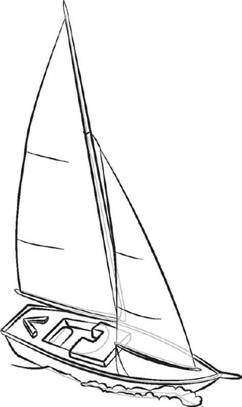 6. Add the Final Touches - How to Draw Sailboats