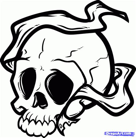 simple skull tattoo designs for how to draw skull of a skull step by step