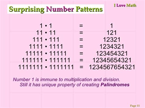 make a pattern with numbers math e magic