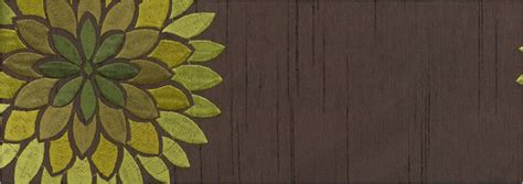 lime green and chocolate curtains large embroidered flower blooms gold brown lime green