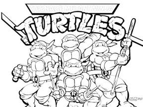 tmnt pizza colouring pages