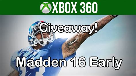Xbox 360 Giveaway - madden 16 xbox 360 giveaway and details youtube