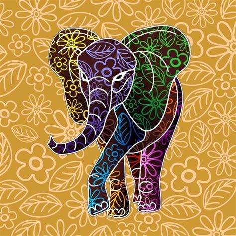 design batik artis elephant floral batik art design art print by bluedarkart