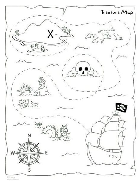 printable pirate treasure map for kids adult coloring 104 best images about piratas on pinterest boats the
