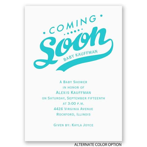 Upcoming Wedding Announcement by Coming Soon Mini Baby Shower Invitation Invitations By