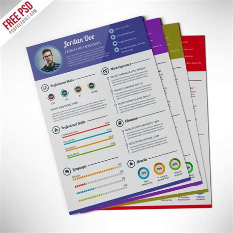 template design psd free downloads freebie professional resume cv template free psd free