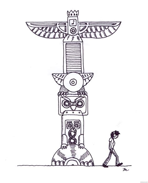 native totem pole coloring pages free piikea st sketch