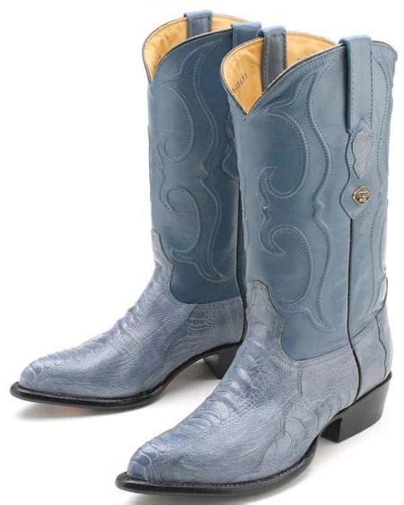 mens blue cowboy boots sku ka1089 ostrich leg blue jean los altos mens cowboy