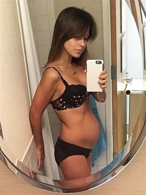 bloated stomach after c section hilaria baldwin shares honest belly pic taken one day
