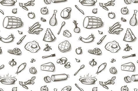 pattern illustrator food vintage food patterns patterns on creative market