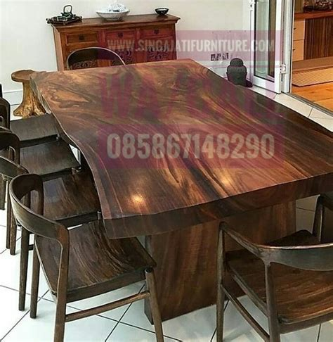 Furnitur Meja Makan meja makan set singa jati furniture