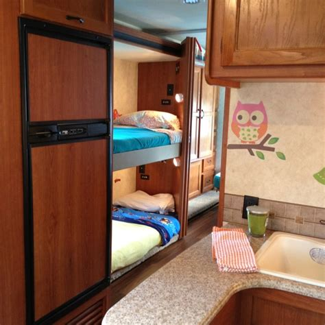 rvs with bunk beds spruce up the vacation rv cute bed linens and fun accents