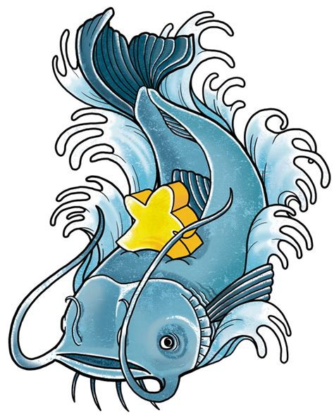 catfish tattoo designs clipart best