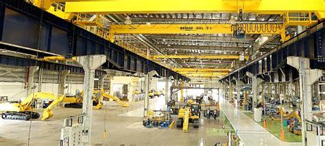 komatsu builds  factory  hydraulic excavators  india  equipment distributors