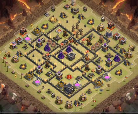 layout coc base war th9 16 best th9 war base anti 3 star 2018 new bomb tower