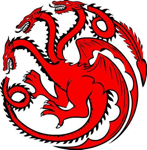 house of targaryen house targaryen three headed dragon by mattvine on deviantart