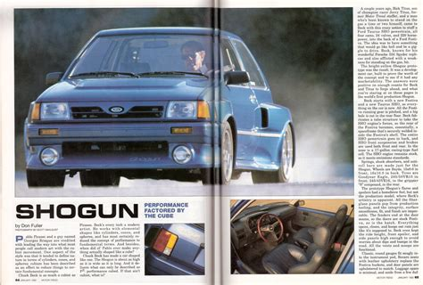 Ford Shogun Festiva by Os Melhores Hatches Do Universo Ford Festiva Shogun