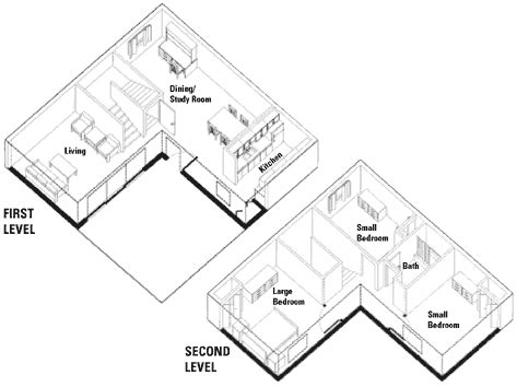 l shaped master bedroom floor plan three bedroom units housing