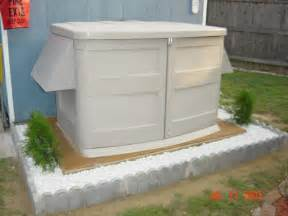 outdoor storage shed for generator shed build