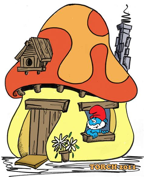Smurf House by A Smurf House 02 By The Torch On Deviantart