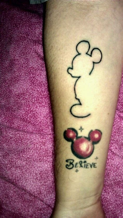 mickey mouse tattoo i like pinterest