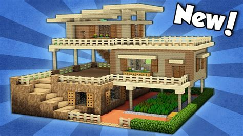 how to build a house minecraft how to build a large starter house tutorial 2