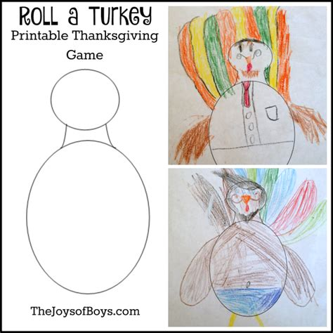 printable roll a turkey roll a turkey printable thanksgiving game