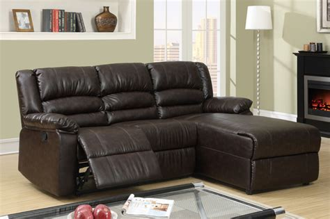Leather Sectionals With Chaise And Recliner by Small Coffee Leather Reclining Sectional Sofa Recliner Right Chaise