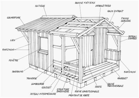 Plan De Construction D Une Cabane En Bois by Plan De Construction D Une Cabane De Jardin Plans Maisons