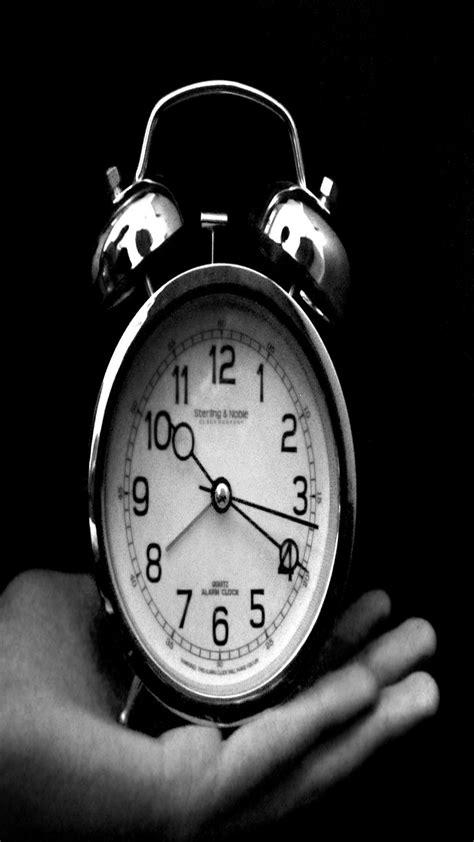 wallpaperwiki black  white clock iphone wallpapers pic