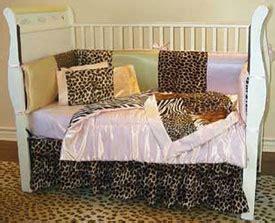 Animal Satin Patchwork Crib Bedding Satin Crib Bedding