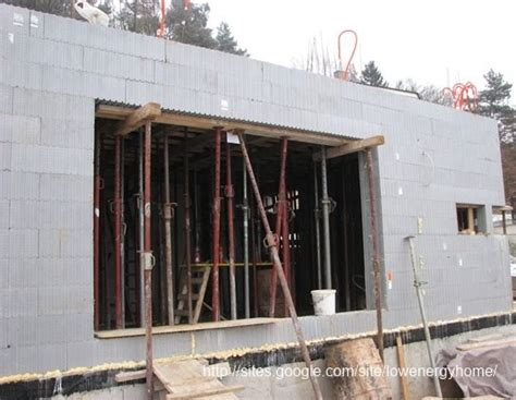 Construction of 1st floor concrete slab in a low energy