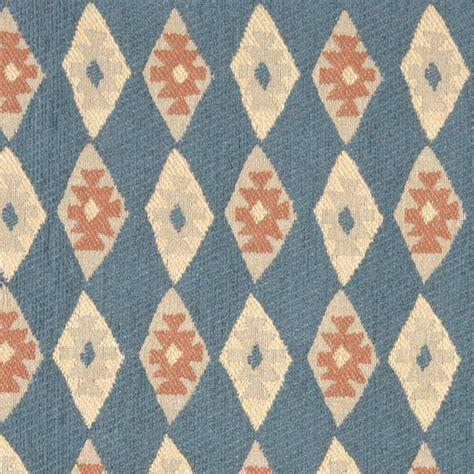 southwest style upholstery fabric blue salmon and beige diamond southwest style upholstery