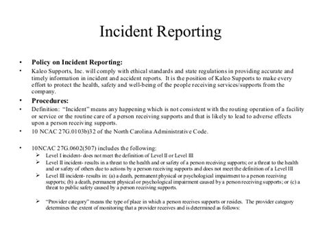 Incident Reporting Incident Reporting Policy And Procedure Template