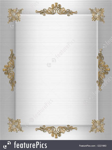 Templates Wedding Invitation Template Elegant Stock Illustration I2221963 At Featurepics White And Gold Invitation Templates