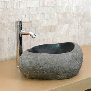 vasque en ronde bowl granit gris indoor by