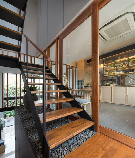 Townhouse Stairs Design Bespoke Modern Town House In Thailand By Baan Puripuri Home Design Lover