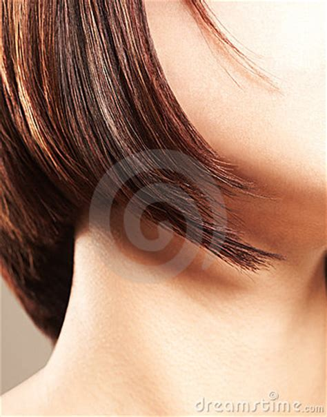lady neck hair close up of a female s neck and hair strands royalty free