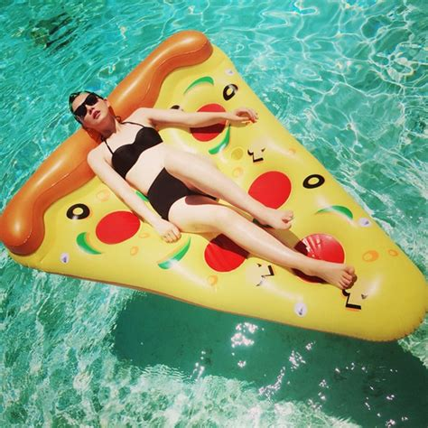 imagenes html float inflatable pizza pool float 180cm swimming pool ring