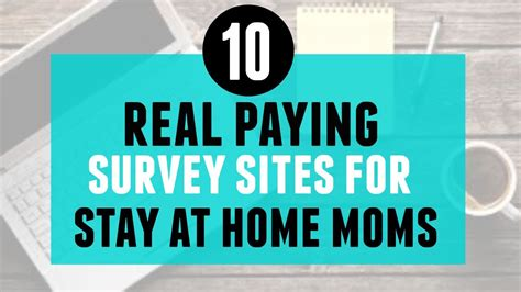 10 real paying survey for stay at home