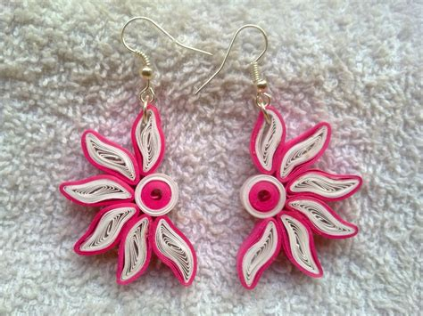 Paper Kammal - quilling earing handmade paper buy paper quilling flower