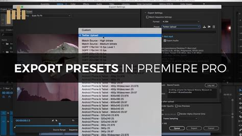best format to export in adobe premiere pro create export presets in premiere pro youtube