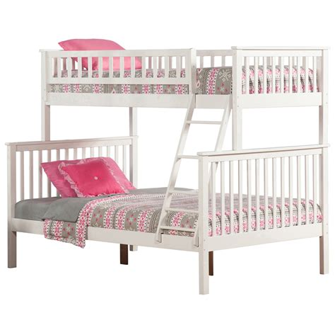 twin full bed twin full bed woodland twin full bunk bed white ab56202