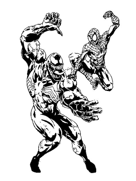 free printable venom coloring pages comic book coloring